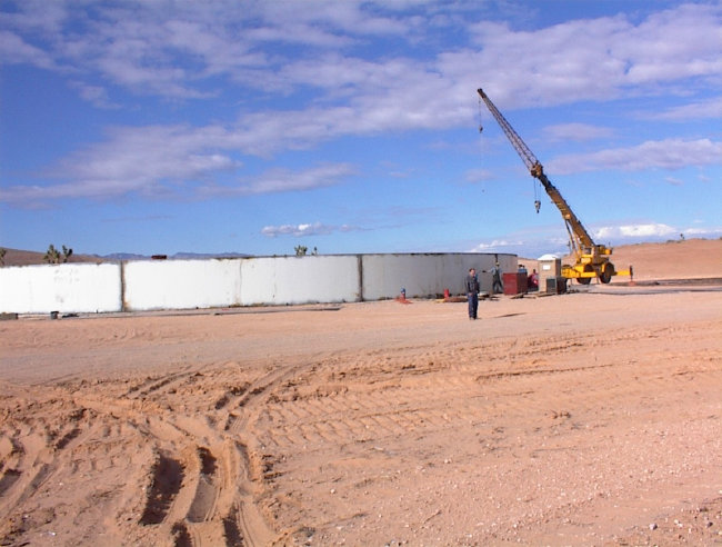 Pad and Access Road for 3 Million Gallon Water Storage Tank Piping; 24' Water Line Mesquite, Nevada
